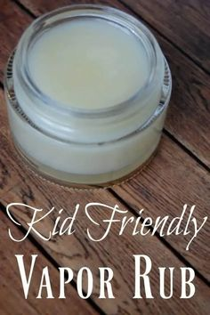 This kid friendly vapor rub will help your child breathe easier without the harmful ingredients that other vapor rubs contain. #kidsafe #kidfriendlly #vaporrub #decongestant #colds #coughremedy #kids Natural Sleep Remedies, Natural Cures, Natural Healing, Natural Foods, Holistic Healing, Healing Herbs, Cough Remedies, Herbal Remedies, Health Remedies