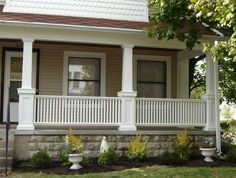 Ranch Style Homes Front Porch Designs Houses Exterior
