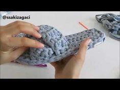 Penye ip ile çapraz terlik yapımı - YouTube
