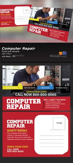 Computer Repair  Computer Repair Flyer Template And Tech