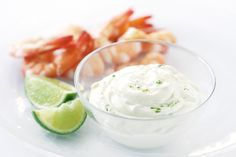 For an elegant entree or crowd pleasing party fare, serve a platter of cooked prawns or lobster with this tangy lime mayonnaise.