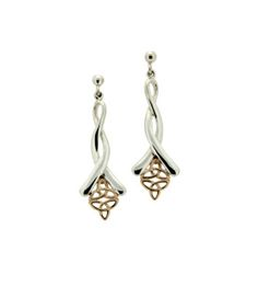 Celtic Silver and Gold Earrings