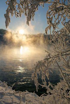 Winter sun, Trondheim, Norway.  Photo: Helena Normark, via Flickr