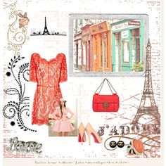Paris inspired lace and coral with chanel earrings, CL pumps and love ring!