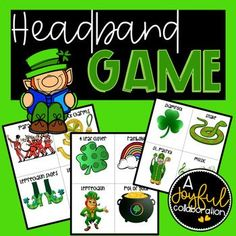Patrick's Day Headbands Party Game by A Joyful Collaboration Educational Activities, Preschool Activities, Holiday Images, Different Holidays, Joyful, Party Games, Early Childhood, St Patricks Day, Collaboration