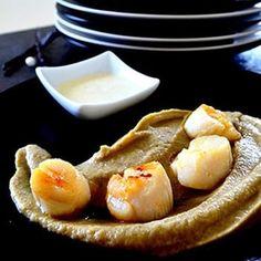 Sashimi, Caviar D'aubergine, Celerie Rave, Saint Jacques, Pretzel Bites, Pancakes, French Toast, Pie, Bread