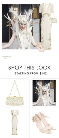 """""""Ice Snow Queen"""" by babygurl7191 ❤ liked on Polyvore featuring Masquerade, Brock Collection, Gianvito Rossi and House of Harlow 1960"""