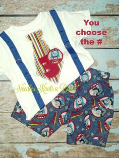 Thomas the Train Birthday outfit. You do get both pieces. If you need a…