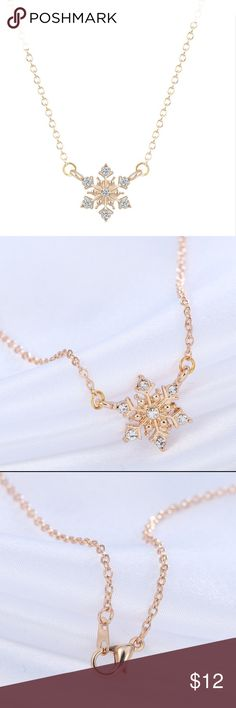 """18k Gold Plated Snowflake Necklace Perfect for the holidays!  16"""" chain nickel and lead free Kat's Boutique Jewelry Necklaces"""
