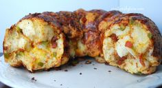 cheesy bacon pull-apart bread-- this looks similar to but much easier than another cheesy bundt bread I made at new years...