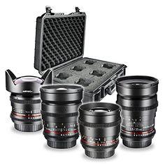 Walimex Pro Video- und Foto-Objektiv-Set FF Basisset für Sony E-Mount Bajonett (35 mm 1:1,5 Objektiv, 85 mm 1:1,5 Objektiv, Weitwinkelobjektiv 14 mm 1:3,1, 24 mm 1:1,5 Objektiv und Objektivkoffer) - http://kameras-kaufen.de/walimex-pro/walimex-pro-video-und-foto-objektiv-set-ff-fuer-e-35
