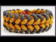 """Paracord Bracelet: """"Alligator Fang"""" Bracelet Design Without Buckle - YouTube"""