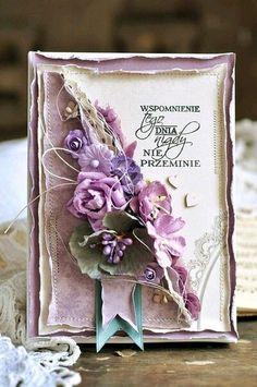 Carte magnifique violette <3