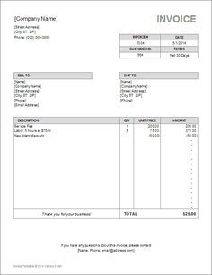 Download A Free Billing Invoice Template For Excel Or Google Sheets From Vertex42 Com In 2020 Invoice Template Freelance Invoice Template Invoice Template Word