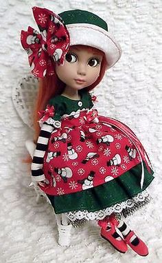~Christmas Dress Set For Your Tonner Patience Doll~Jolly Snowmen~