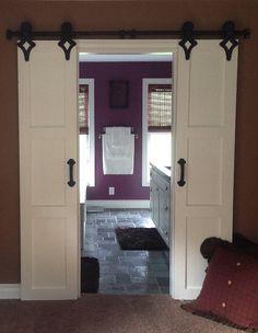 Bathroom Sliding Barn Doors Door Only by RussBuilders on Etsy