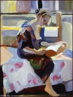 ✉ Biblio Beauties ✉ paintings of women reading letters & books - Martha Armstrong