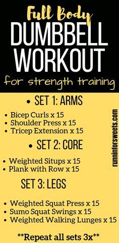 20 Minute Full Body Dumbbell Workout   8 Dumbbell Exercises for Runners