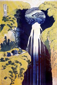 Hokusai, Japan - vertical perspective? this does not appear to have a deep pictorial space.