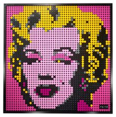 Andy Warhol's Marilyn Monroe 31197 | LEGO® Art | Buy online at the Official LEGO® Shop AU Andy Warhol Marilyn, Pop Art Andy Warhol, Beatles, Lego Wall Art, Famous Pop Art, Lego Frame, Creative Arts And Crafts, Pop Art Portraits, Multimedia Artist