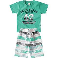 Conjunto de Verão Infantil para Menino Verde - Brandili :: 764 Kids | Roupa bebê e infantil