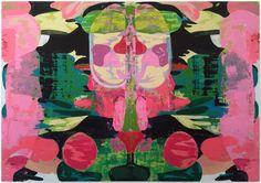 Kerry James Marshall (americano, 1955), Untitled (Blot), 2015. Acrílico em painel de PVC, 84 x 120 pol.