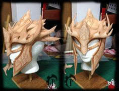 Stag helm WIP by Feral-Workshop
