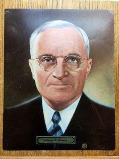 "Vintage 1969 President ""Harry Truman"" 11 X 14 Color Print"