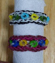 """Rainbow Loom Bracelet - Original Design - """"ROUND N' ROUND"""" (ref # 3Paa)"""