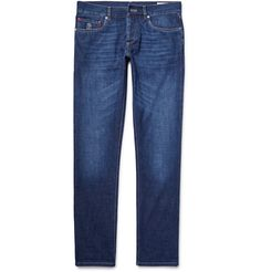 A casual wardrobe staple, <a href='http://www.mrporter.com/mens/Designer/Brunello_Cucinelli'>Brunello Cucinelli</a>'s jeans will become one of your perennial favourites. Cut slim and designed with a classic, comfortable mid-rise, they are made from lightweight denim that has a soft, flexible handle. Go for a high-low look with a smart blazer and sneakers.