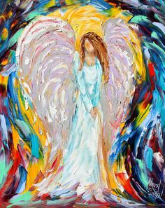 Original painting by Karen Tarlton - calling on all angels to vote for me here: https://www.facebook.com/ArtisteWine/app_343236642414878 facebook Artiste wine label finalist