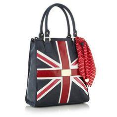 Navy 'Union Jack' shopper bag