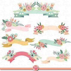 20 Ideas wedding invitations floral diy clip art for 2019 Clipart, Cool Powerpoint Backgrounds, Clip Art Vintage, Vintage Cards, Banner Clip Art, Foto Transfer, Doodles, Floral Banners, Valentine Theme