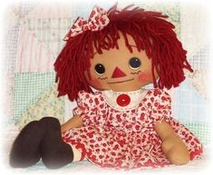 Doll Pattern Annie has a NEW DRESS includes doll and clothes PDF rag doll sewing pattern ePattern