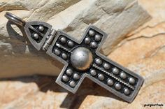 Vintage 925 Sterling Silver Hinged Holy Cross by Yourgreatfinds, $42.99