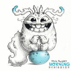 Chris Ryniak is creating Friendly Monster Drawings! Cute Monsters Drawings, Cartoon Drawings Of Animals, Cartoon Monsters, Little Monsters, Cute Drawings, Monster Sketch, Doodle Monster, Monster Drawing, Monster Art