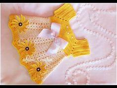 Crochet or Crochet Dress * Angela Model * / several sizes / 0 to 3 months. Sundress Pattern, Crochet Baby Dress Pattern, Baby Girl Crochet, Crochet Baby Clothes, Baby Knitting Patterns, Crochet For Kids, Baby Patterns, Crochet Patterns, Crochet Dolls