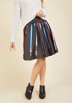 Make a Knight of It A-Line Skirt, @ModCloth