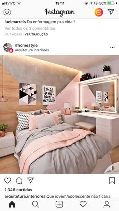 Baby Room Decor: 75 Ideas with Photos and Designs - Home Fashion Trend Dream Rooms, Dream Bedroom, Teen Room Decor, Bedroom Decor, Small Room Bedroom, Deco Design, Room Colors, House Rooms, Girl Room