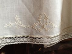 This is the hem of a sweet and very old-fashioned little baby dress that I am currently making.