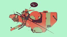 """""""'Honour or Death' was the motto of a small gang of speeder louts that hung around a local chippy, smoking & drinking"""" Spaceship Art, Spaceship Design, Spaceship Concept, Comic Style Art, Comic Styles, Comic Art, Prop Design, Robot Design, Gareth Davies"""