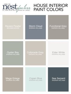 Une palette de couleurs sobres pour un intérieur chic. Find information on each one of the house paint colors I used. Name, brand, and where to find them. Read about why we chose each specific color. Interior Paint Colors, Paint Colors For Home, Interior Design, Paint Colours, Luxury Interior, Dining Room Paint Colors, Room Interior, Kitchen Wall Colors, Paints For Home