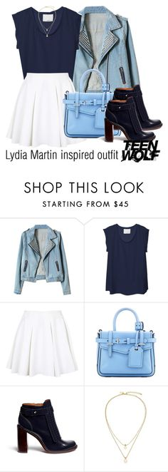 """Lydia Martin inspired outfit/TW"" by tvdsarahmichele ❤ liked on Polyvore featuring 3.1 Phillip Lim, Topshop, Reed Krakoff, Tory Burch and Kate Spade"