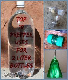 Got empty soda bottles? Heres 10 creative, practical, preparedness uses for 2 liter bottles. Number 10 is genius! Disaster Preparedness, Survival Prepping, Survival Skills, Survival Gear, Survival Quotes, Homestead Survival, Soda Bottles, Plastic Bottles, Soda Bottle Crafts