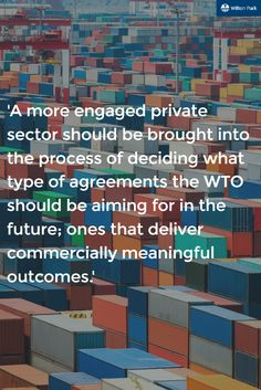 This conference was held to find outcomes and to discuss policymaking changes so that WTO can meet their objectives. What lessons can be learnt here?