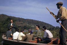 Walt Disney on a boat ride, 1941 | por Tom Simpson