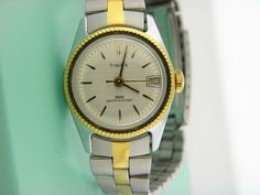 Vintage Timex President Inspired Women's Mechanical Watch Two Tone Band # 21 #Timex #Casual