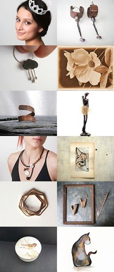 Winter Finds - Rusty Brown by Inese on Etsy--Pinned with TreasuryPin.com