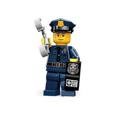 image of lego police man fro cupcake topper