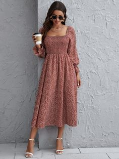 Modest Dresses, Stylish Dresses, Simple Dresses, Elegant Dresses, Pretty Dresses, Casual Dresses, Floral Dress Outfits, Cute Floral Dresses, Skirt Outfits